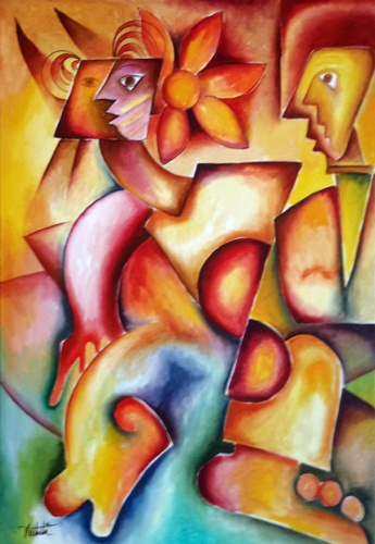 "Alexandra Nechita - the ""little Picasso"". I love her artwork."
