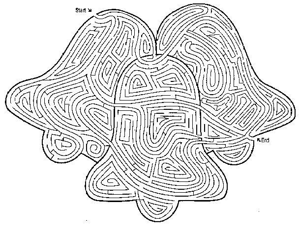 Bellen, ster en sneeuwklok doolhoven // Bells, star and snowflake Printable Mazes