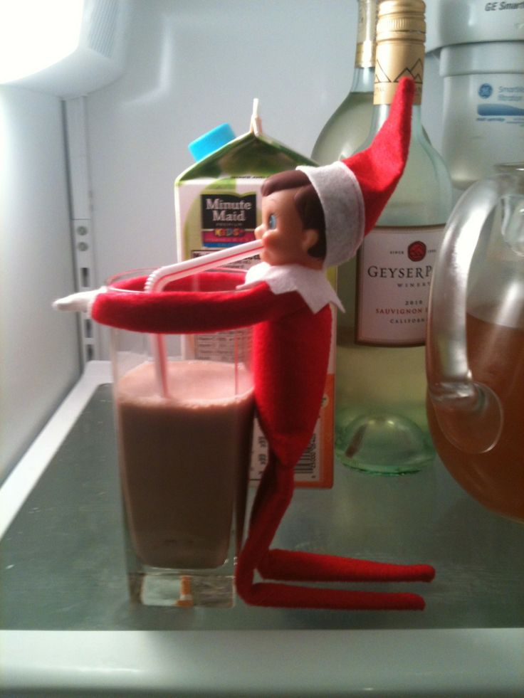 Someone needed a chocolate fix!  Don't forget to share some chocolate love with your elf-friend!