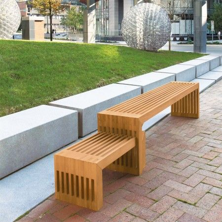 strata 6 ft bench and interlocked side table. Interior Design Ideas. Home Design Ideas