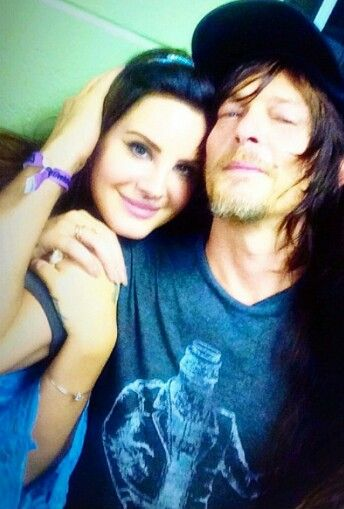 Lana Del Rey and Norman Reedus in Georgia. Dead. I'm dead. I want to be right in the middle. Damn.