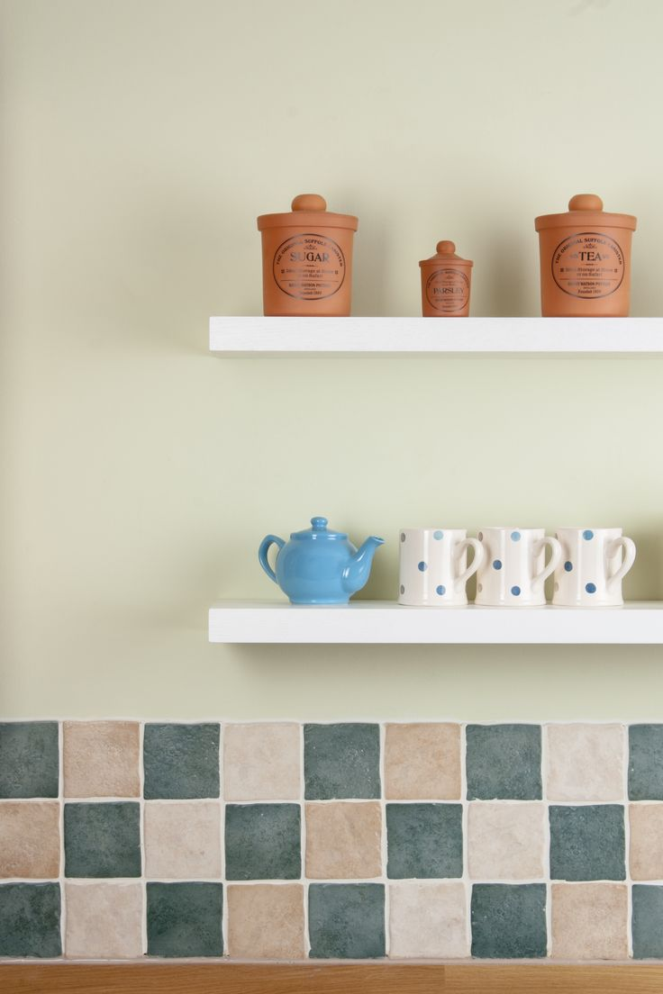 Whether used for additional storage space or for showcasing decorative dishware, our white floating shelves are an attractive complement for any kitchen. Painted in Farrow & Ball's New White, this shelving looks fresh and appealing and is made from high quality solid oak. http://www.worktop-express.co.uk/solid-wood-shelves/white-floating-shelves