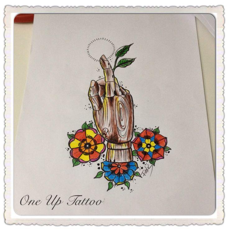 Old school tattoo sketch hand