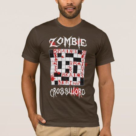 Zombie Crossword T-Shirt - tap to personalize and get yours