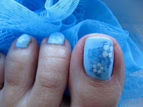 2013 Blue Toe Nails Perfect Toe Nail Designs