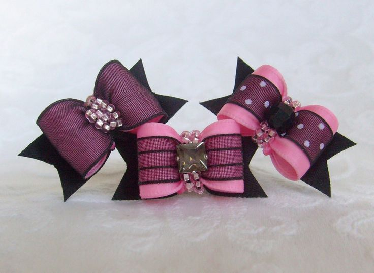 Dog Bow- The Sophisticates Collection in Pink. $14.99, via Etsy.