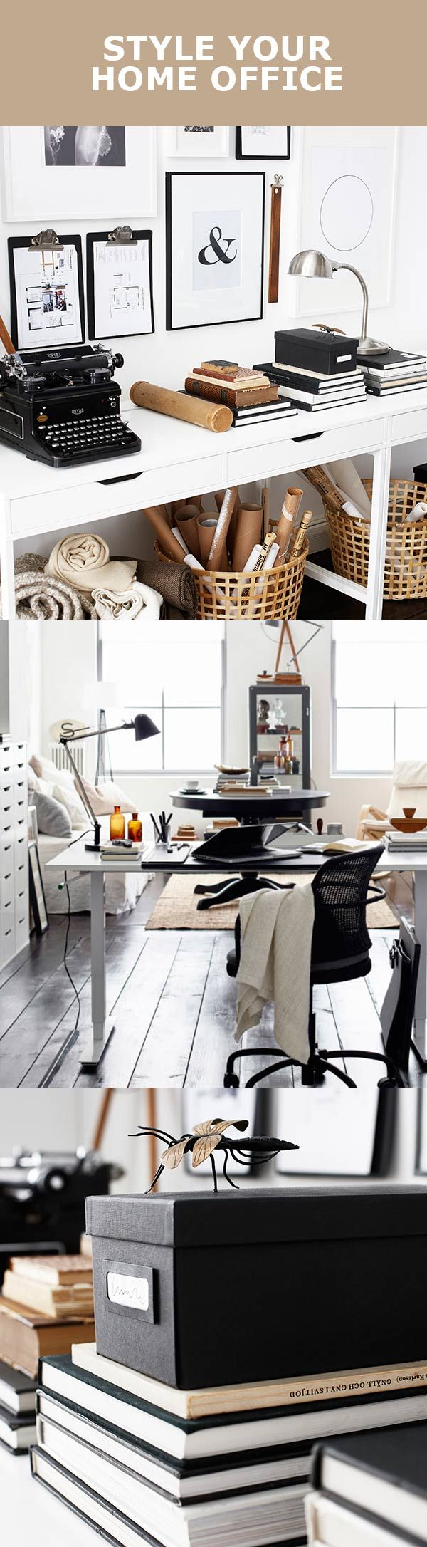 And black and white means your home office style is longer lasting - D6b2b73e34d1ff483c8de637740d1e1a Ikea Office Home Office Jpg