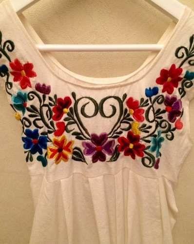 vestido bordado mexicano nena