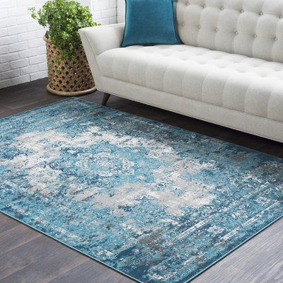 Bungalow Rose Sharpes Teal Area Rug Area Rugs Teal Area Rug Floral Area Rugs