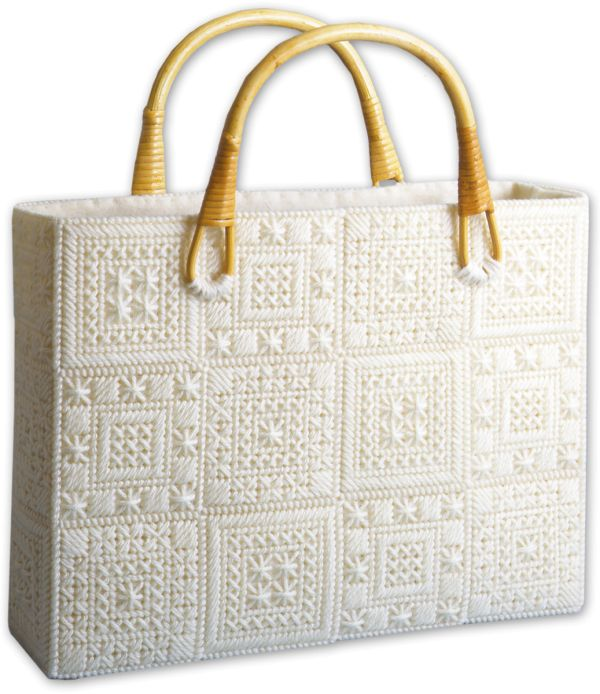 images of plastic canvas tote bag patterns | Aran Tote Bag Plastic Canvas Kit by…