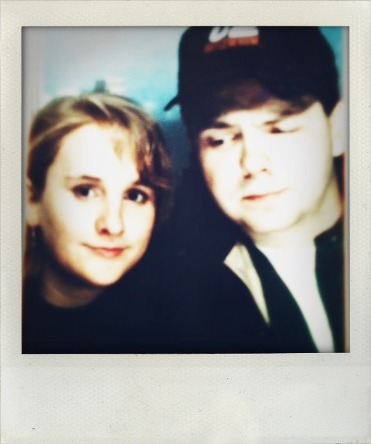 A vintage pic of Matty and me from a photo booth in the East Village