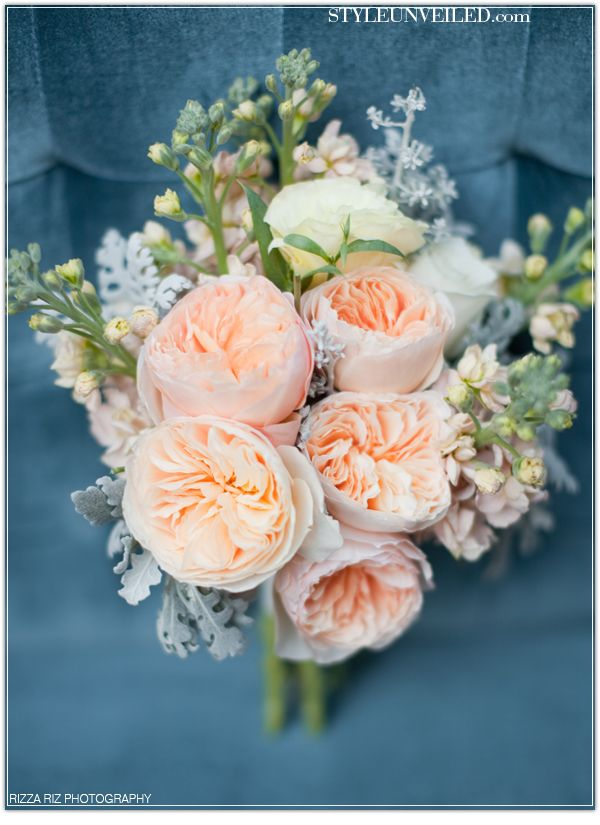 Peach Cabbage Rose Bouquet  Lose These Types Of Roses