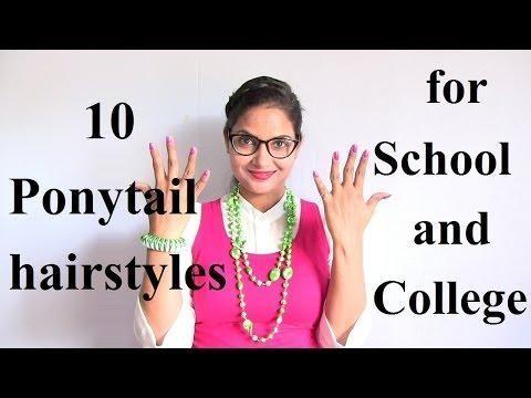 10 coiffures rapides et faciles en queue de cheval pour les filles des écoles et collèges - #simple # robes #colières # queue de cheval
