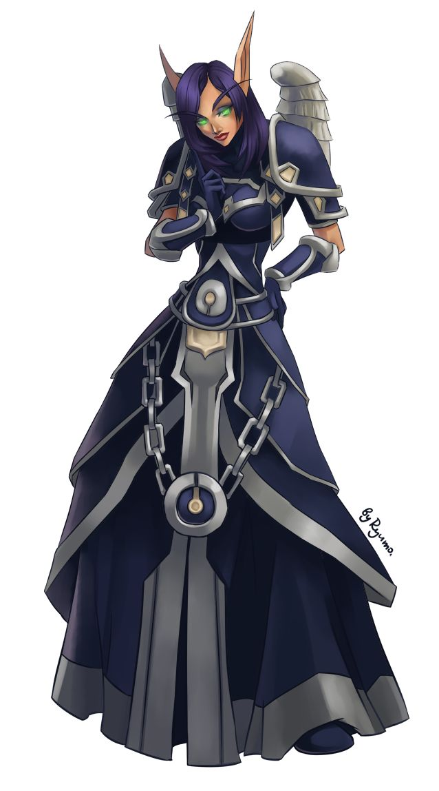 WoW: Sarna The Priest by ryumo.deviantart.com on @deviantART