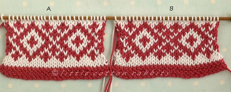 Color Dominance In 2-Color Knitting @ Little Cotton Rabbits.........great stranding tips.....