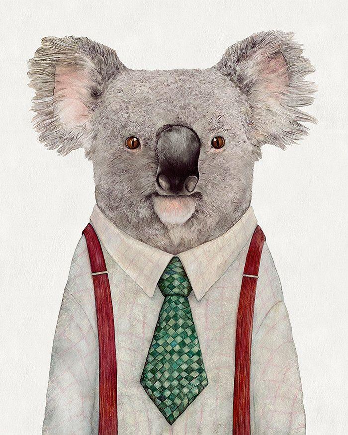koala Throw Pillow Animal Pillow Nursery Pillow by AnimalCrew