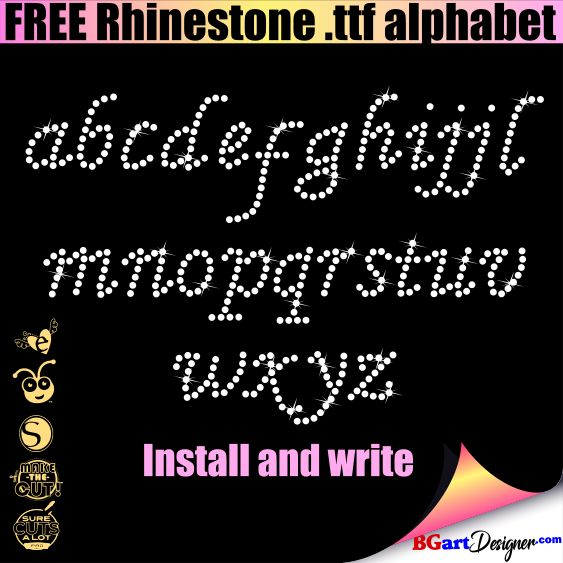 free rhinestone alphabet templates  Alphabet templates, Alphabet, Silhouette cameo tutorials