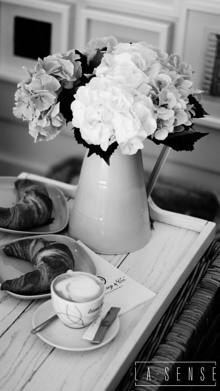Coffee#croissant#flowers#my day#sopot#my place#flaming & co#poland#design#happy morning#la sense photography#