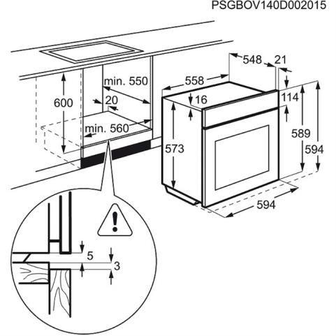 Beépítési rajz EOC3430EOX