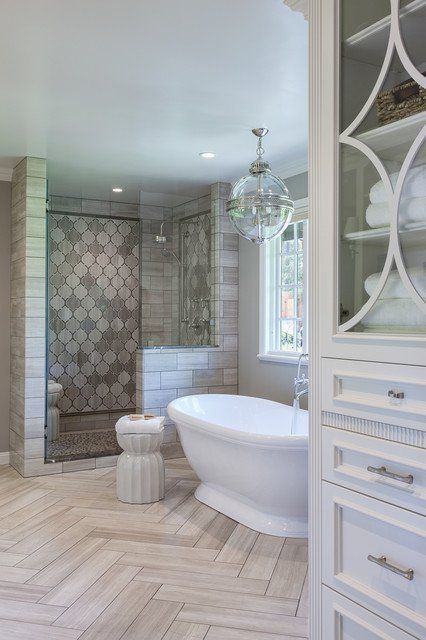 19 spectacular master bathrooms with freestanding bathtub - Bathroom Designs With Bathtubs