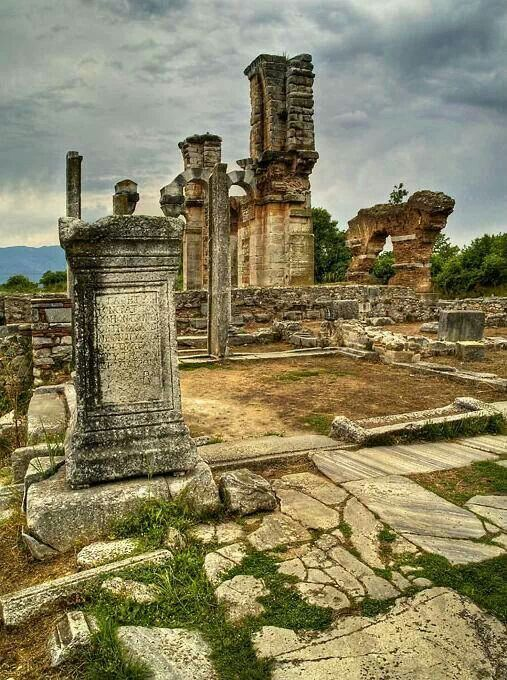 Ancient Phillipoi Kavala Makedonia Greece-beautiful archeological place
