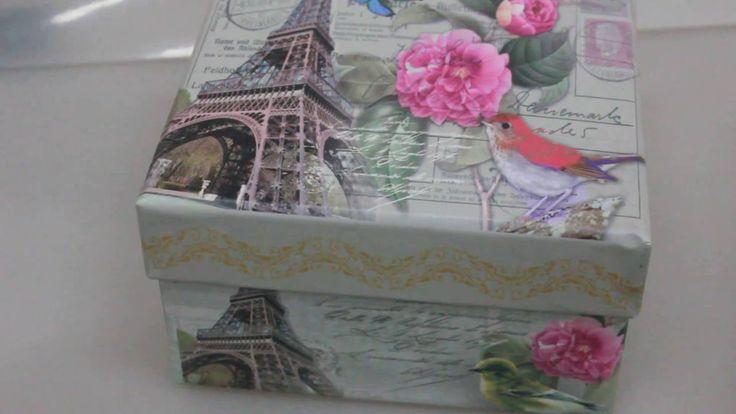 Набор подарочных коробок из 3шт  Квадрат Париж Артикул 12975 4