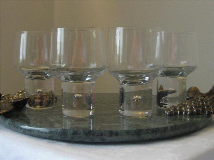 """4 GLAS """"MAMBO"""" VICKE LINDSTRAND FÖR KOSTA BODA på Tradera.com - Höjd 10 cm"""
