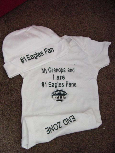 Philadelphia Eagles Football Baby Infant by Embroideryworld, $29.99