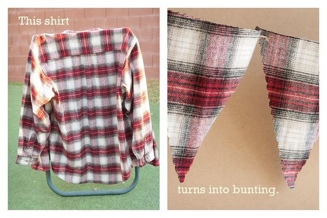 plaid bunting by vgkchick, via Flickr