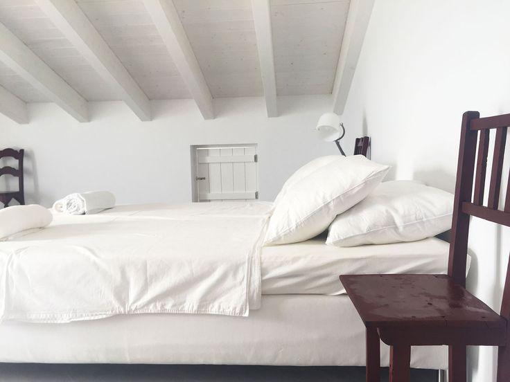 Grande chambre avec terrasse à l'étage de Cabana Branca, jolie maison en location en Algarve