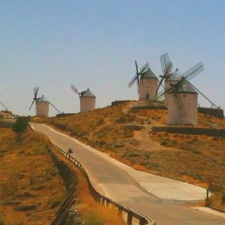 Mulini a vento a Consuegra, La Mancia, Spagna