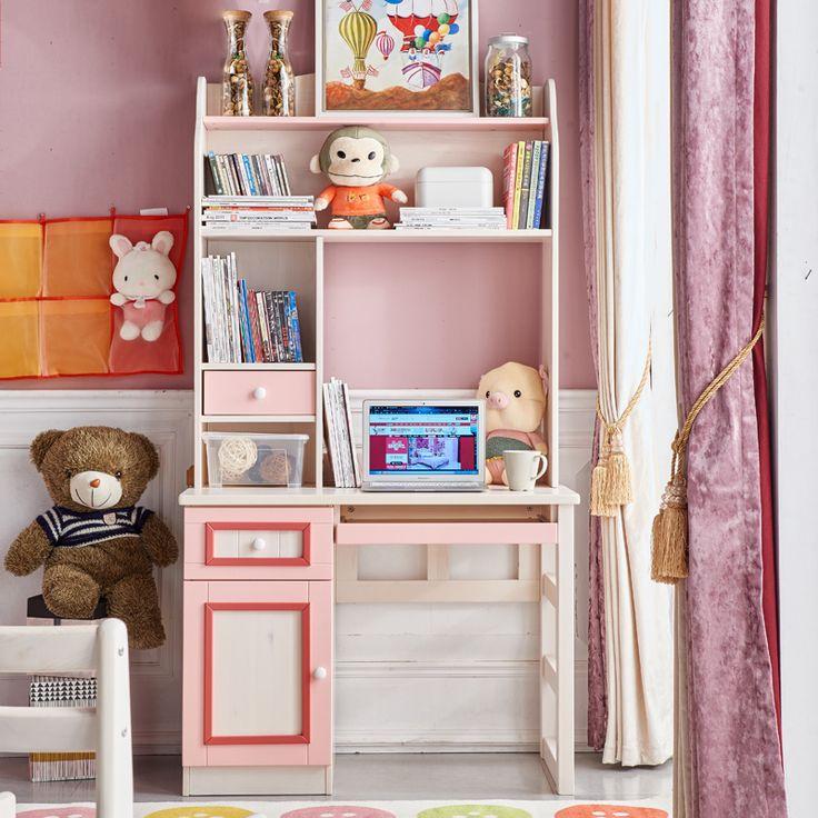Детский розовый компьютерный стол с подставкой под клавиатуру https://lafred.ru/catalog/catalog/detail/41992189896/