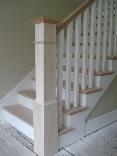 Marvelous Simple Newel Post Design With Square Balusters