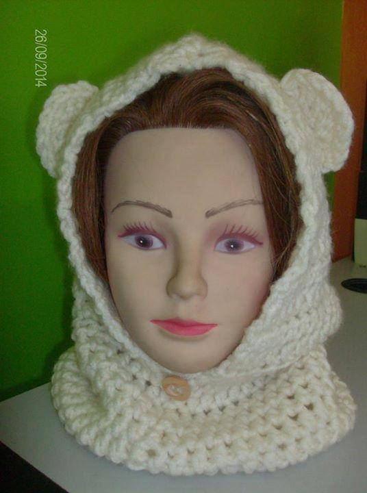 βελονακι scoodie με αυτακια crochet scoodie with ears