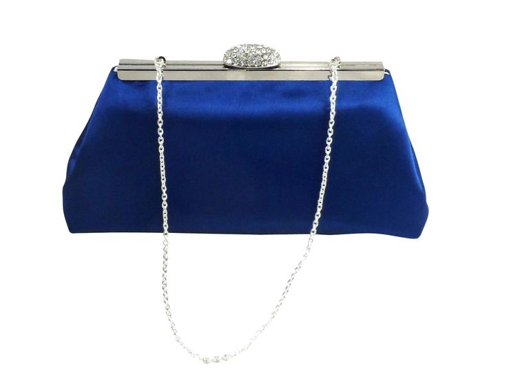 Royal Blue and Silver Paisley Wedding Clutch