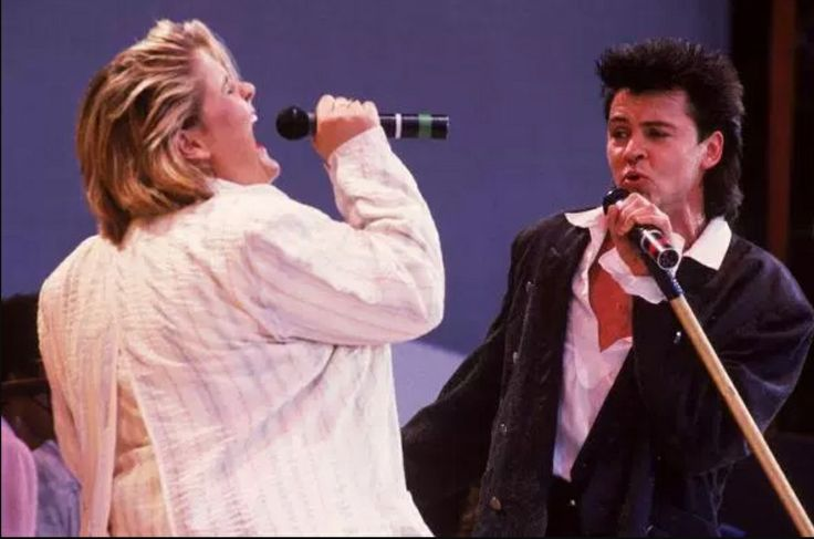 Alison Moyet and Paul Young at Live Aid.