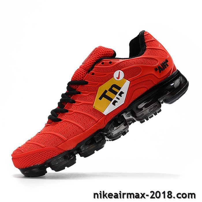 sports shoes 62fd0 fdcdf Hot Nike Air VaporMax TN KPU Mens Sneaker Red Black For Sale