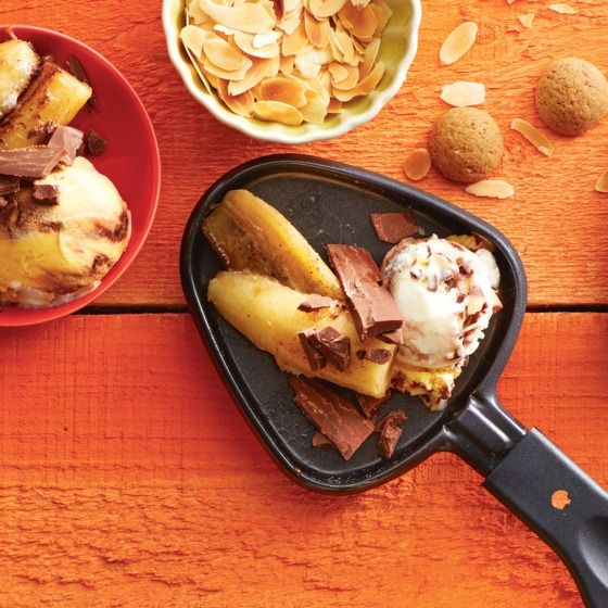 Een heerlijke combinatie van warme banaan met romig slagroomijs! #dessert #banaan #JumboSupermarkten