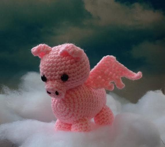 Flying Angel Pig Amigurumi Crochet Pattern : 127 best images about Reasons Why I Wish I Could Crochet ...