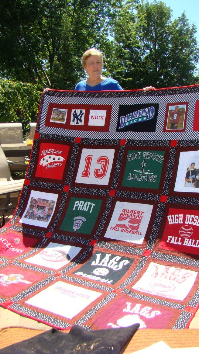 T-shirt quilt... keep t-shirts all through the school years and for graduation gift make a quilt.