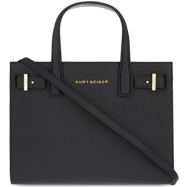 Kurt Geiger London London saffiano leather tote ($220) ❤ liked on Polyvore featuring bags, handbags, tote bags, saffiano leather purse, holiday tote bags, saffiano leather tote, handbags totes and tote hand bags