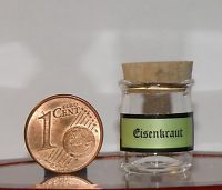 Miniatur aus Glas,mundgeblasen,Maße:Höhe=22 +-1 mm,Ø=15 mm, Eisenkraut