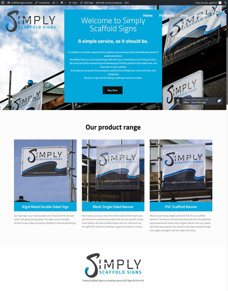Scaffold advertising signs online