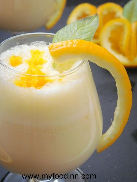 Zesty Orange Milkshake.Zesty Orange, Orange Milkshakes