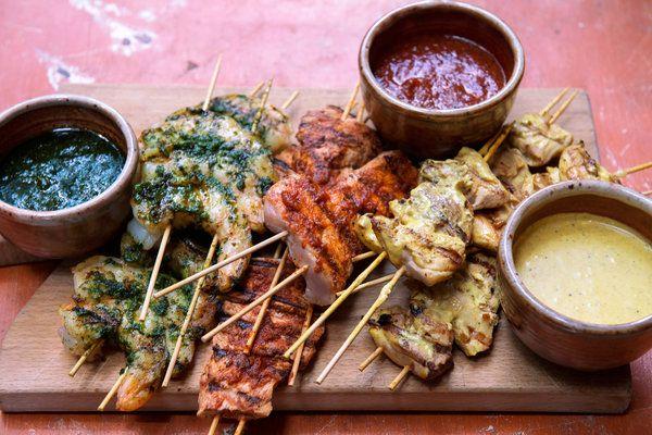 Garlic Shrimp Brochettes - NYT Cooking