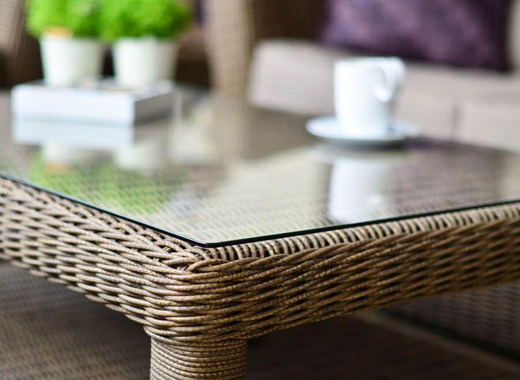 Meble ogrodowe technorattaniu Torino zestaw wypoczynkowy stolik kawowy