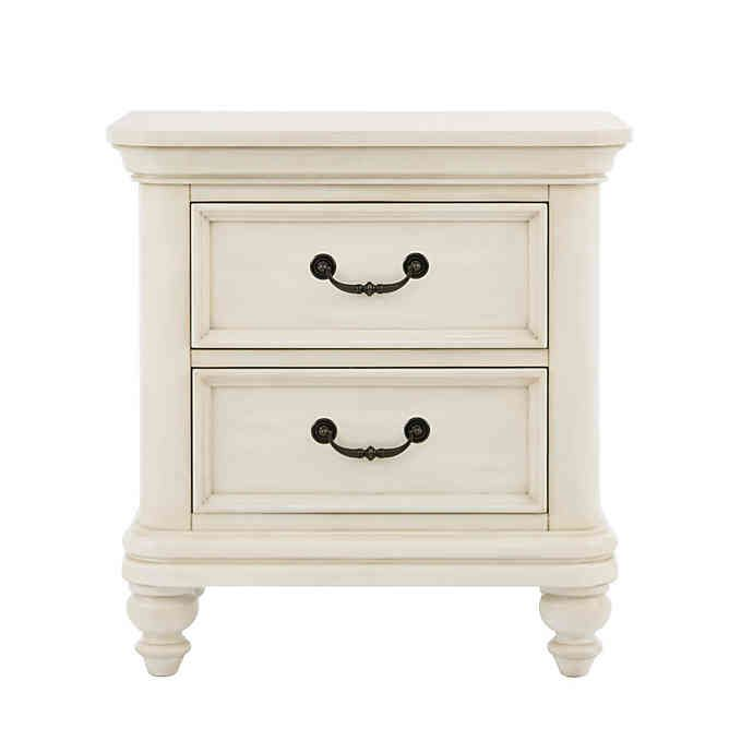 Best Pulaski Madison 2 Drawer Nightstand In Antique White With 400 x 300