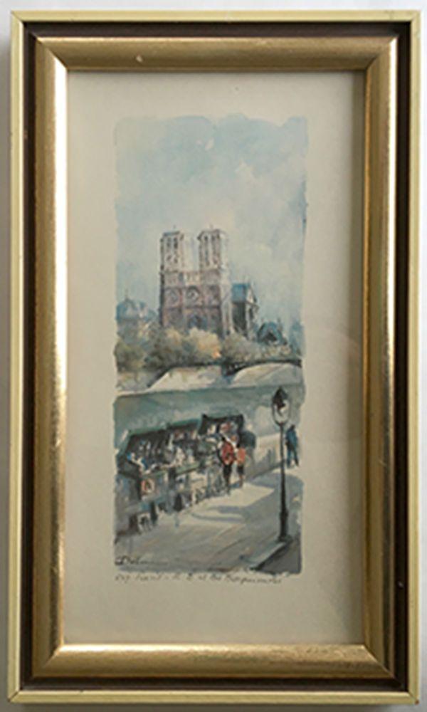 Details About Vintage Lucien Delarue Print 547 Paris Et