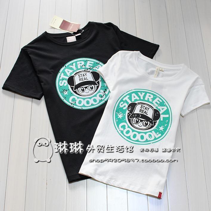 3 包邮 2012 summer clothing new women's short-sleeved t-shirt short-sleeve cotton couple loaded with male big yards sisters loaded - Taobao