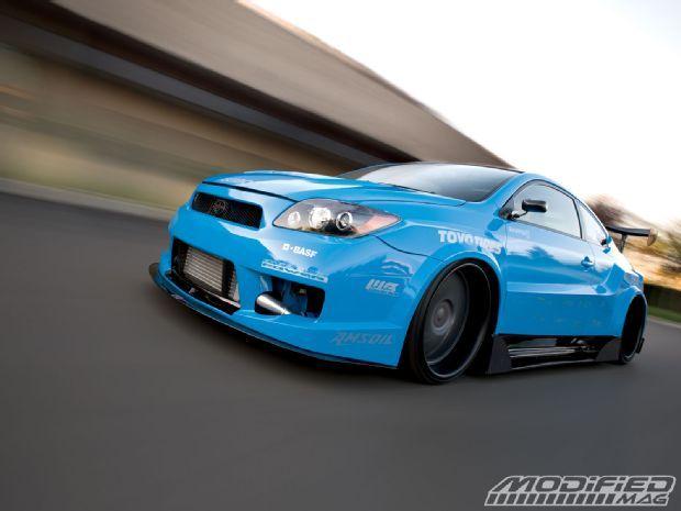 2009 Scion tC blue